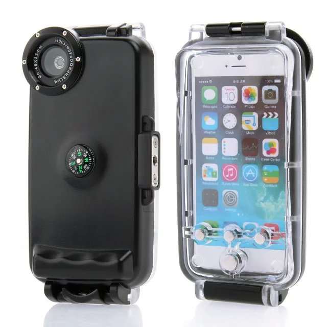 40M Diving Waterproof Case for iPhone 6 6S 4.7inch High Quality Plastic Waterproof Phone Bag Cover for Swimming Fishing Sports(China (Mainland))