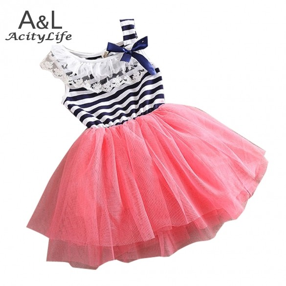 Angel Baby summer fashion new baby girl dress lace+cotton material 3 colors age 1-5 girls dresses 24(China (Mainland))
