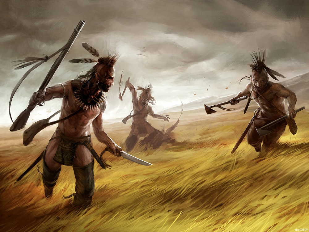 Related Keywords & Suggestions for native american warrior art