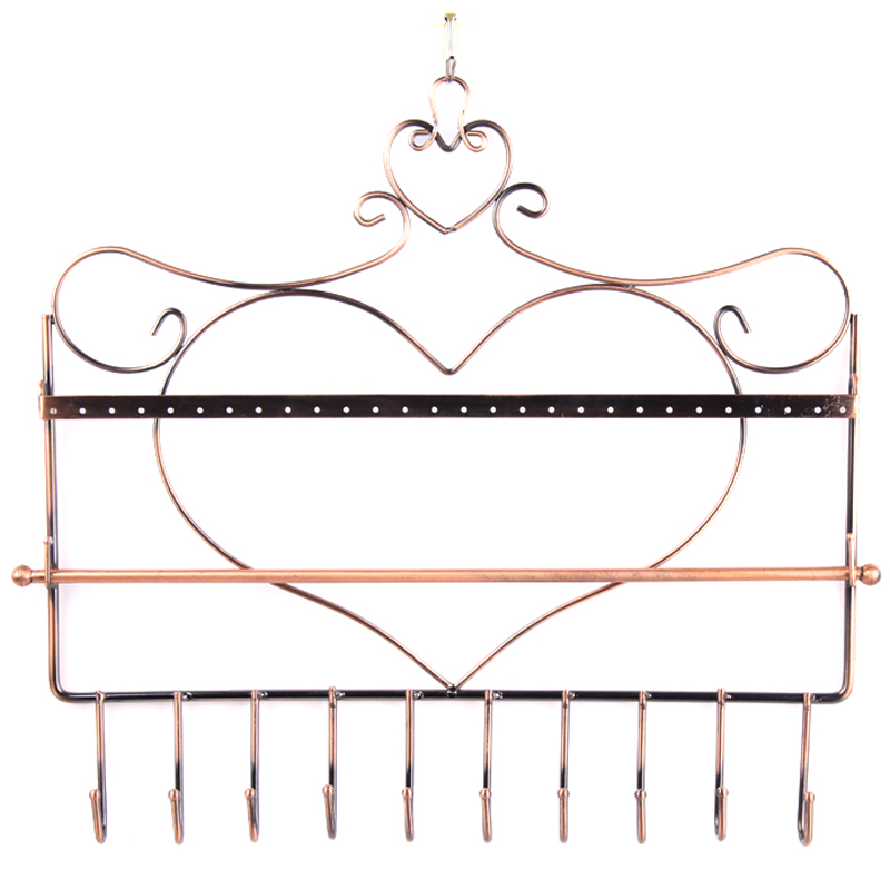 Wrought Iron Earring Necklace Stand Holder Ear Stud Jewelry Accessories Storage Case Rack Jewelry Organizer Display Shelf Wall(China (Mainland))