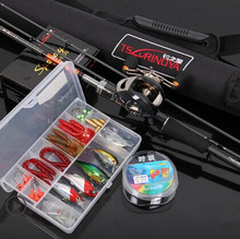 2014 New EMS free Shipping TY 2.1M M/ML Red Casting Fishing Rod Set with Right-hand Casting Fishing Reel Fishing Rod Whole Set