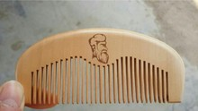 Customized Wooden Comb Engraved Your Logo Comb Natural Wooden Comb Beard Comb Free Shipping FH50-252(China (Mainland))