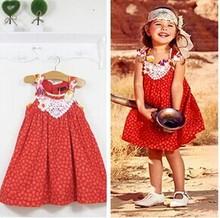 Catimini girls print dress 2014 new Spring&summer kids cute floral bow sleeveless dress girls brand party princess sundress