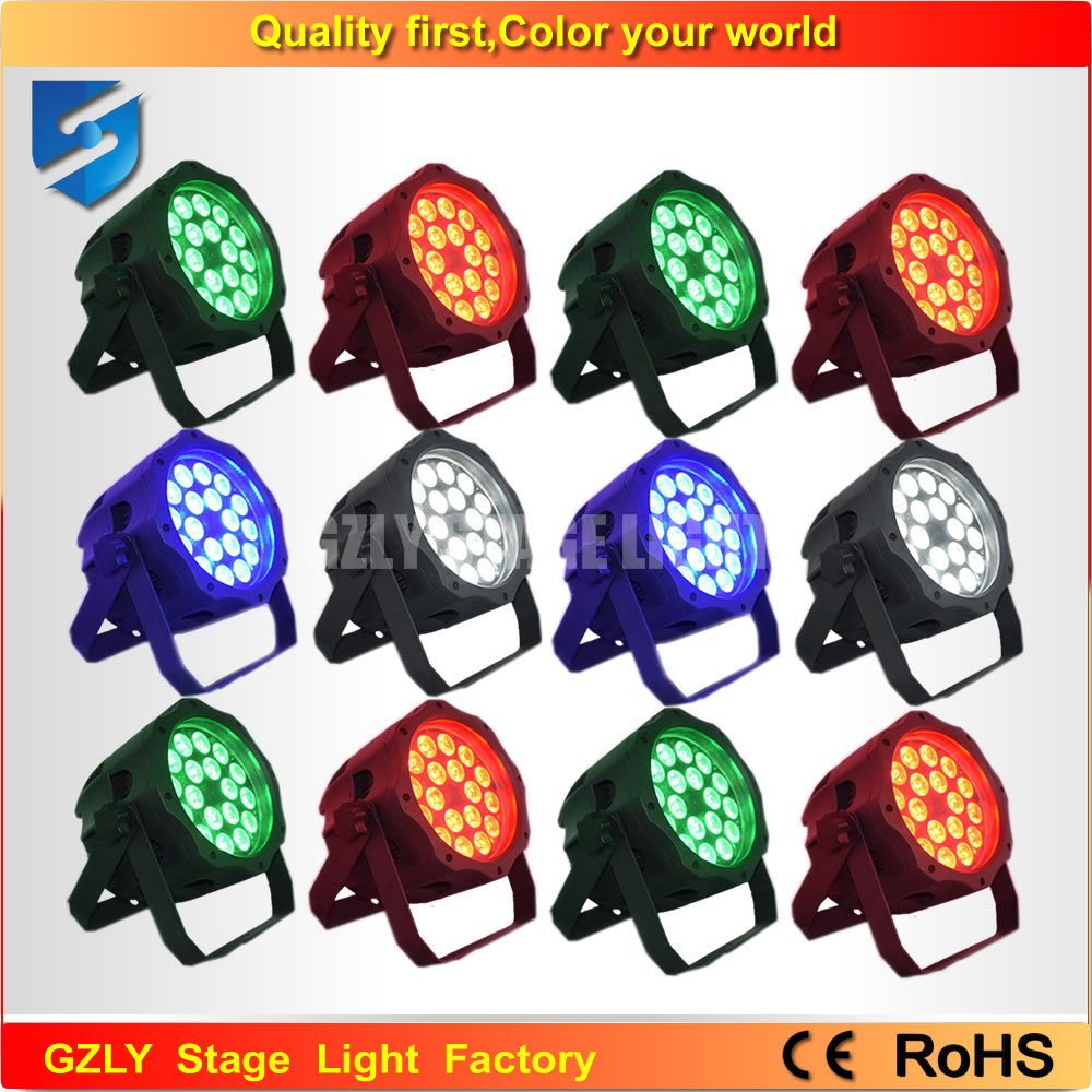 Free shipping 12pcs/lot waterproof led par can 18x10w rgbw ip65 par led(China (Mainland))