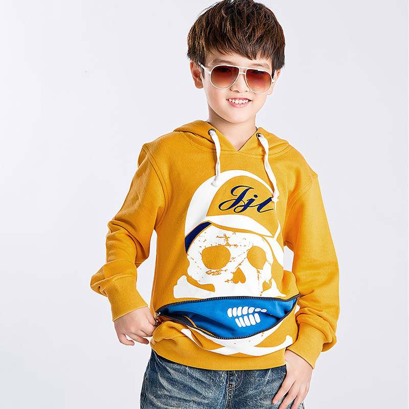 2016 Autumn and Winter Children's Clothing Sweatshirt Personalized Skull Boy Pullover Outerwear Comfortable Cheap Coat for Boys(China (Mainland))