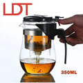 LDT 350ML Handmade Glass Teapot Kung Fu Tea Ceremony Tea Set With Strainer Teapots Top Quality