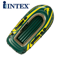 free shipping by DHL brand  INTEX68347 2 persons Kayak inflatable rowing boat fishing boat thickening with Paddles and Air pump(China (Mainland))