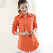 Plus size L to 5XL Large size women's loose relax full sleeved shirt summer OL Shirt 03#