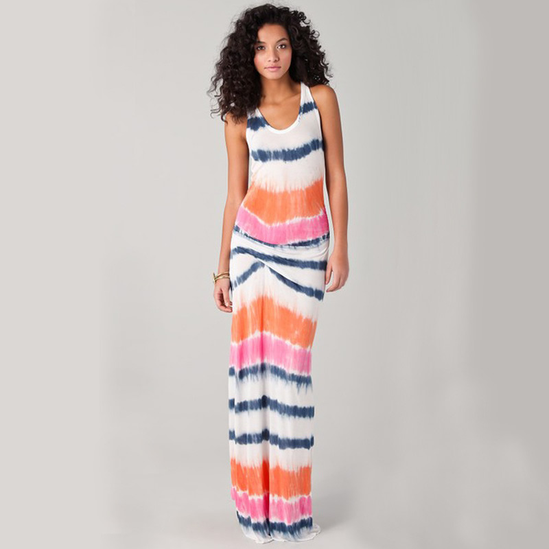 Free shipping!!!Polyester Beach Dress2014 new different size for choice printed geometric multi-colored Sold By PC(China (Mainland))
