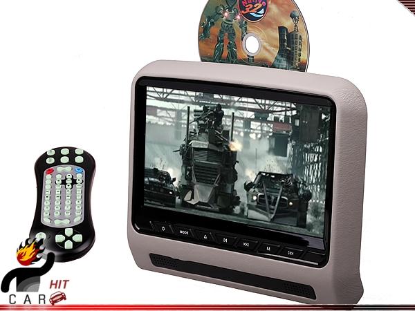 9 Inch Car Headrest DVD Player Multimedia Monitor - SD USB Games FM IR HDMI Grey(China (Mainland))