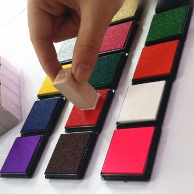 12 Colors Durable DIY Craft Oil Based Ink Pad Print For Stamps Rubber Paper Wood 187