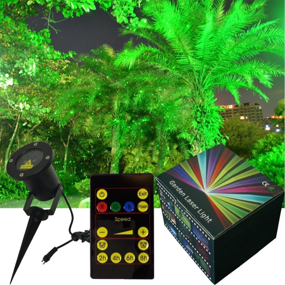 Wall Decoration Laser Lights : Waterproof laser light landscape spotlights for christmas
