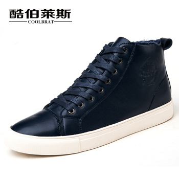 COOLBRAT Shoes Men British Army Boots Fur Warm Winter Boots High Top Men Boots Martin Boots Lace Up PU Leather Men Shoes 5013(China (Mainland))