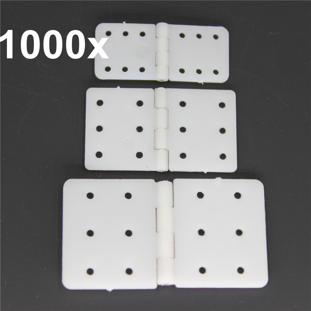 Wholesale 1000pcs/Lot  Pinned Nylon Hinges 20x36 mm &amp; 16x28.5 &amp; 11x25.5 For RC Airplane Plane Parts Model Replacement<br><br>Aliexpress