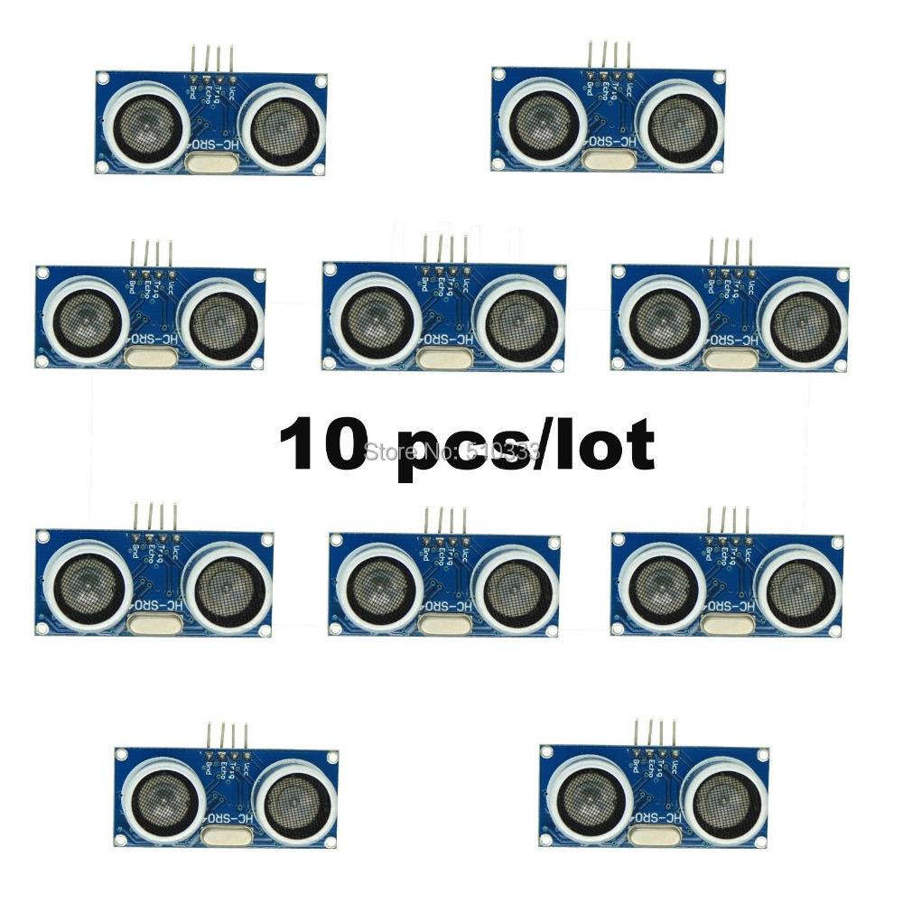 10Pcs HC-SR04 Ultrasonic Module Distance Measuring Transducer Sensor(China (Mainland))