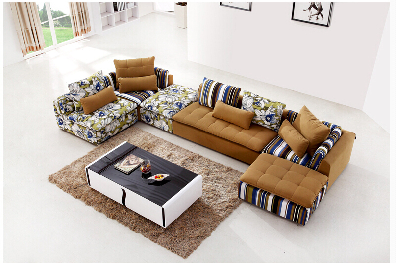 U-BEST Sectionals Couch Chaise Corner Couches,European style home use living room fabric furniture sofa set(China (Mainland))