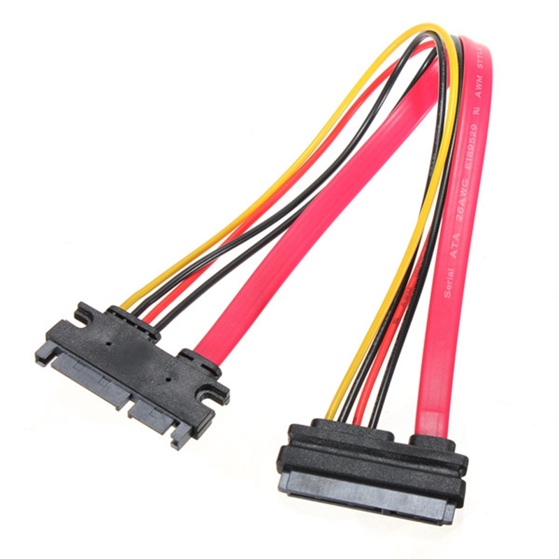 New 7+15 Pin 22P Male to Female Serial ATA SATA Data Power Combo Extension Cable High Quality SATA Power Adapter Cables(China (Mainland))