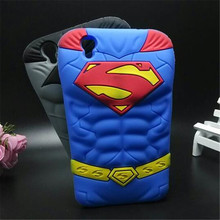 Buy 3D Cartoon Cover Chest muscle Blue Superman Batman soft Silicone cell phone Case Sony Xperia M4 Aqua for $3.81 in AliExpress store