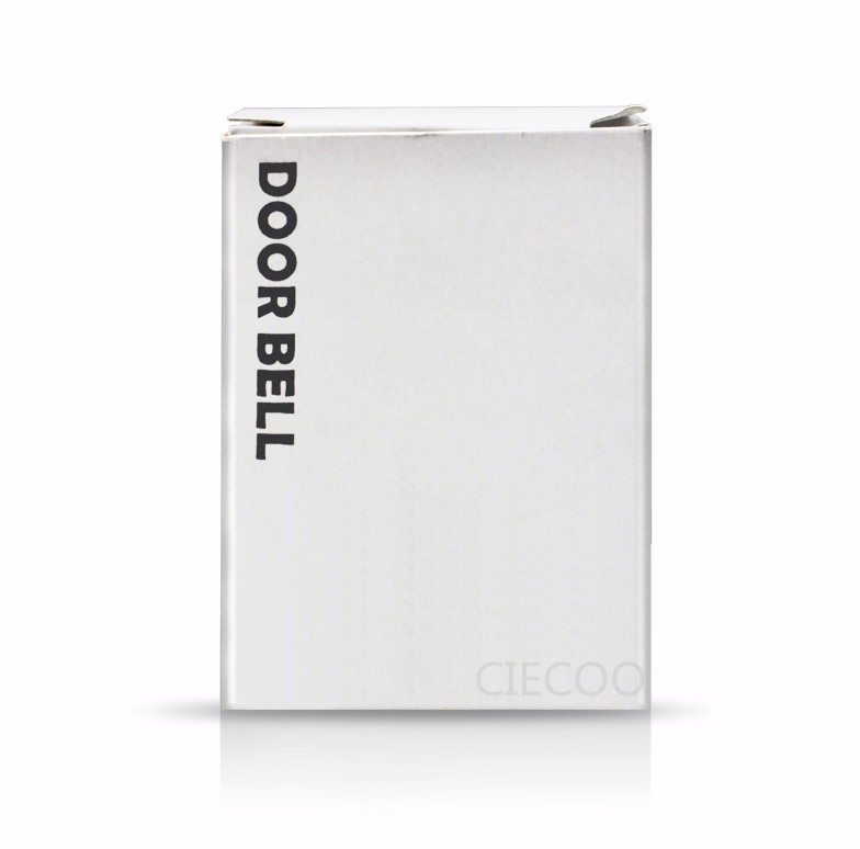2016 Fashion House Building Doorbell Wireless White Door Bell Chime for Home Office Access DIY No battery Electronic Door Ring(China (Mainland))