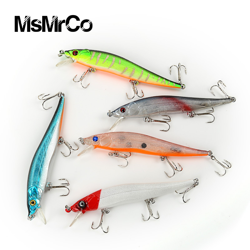 1PCS super quality 5 color 11.5cm new lures Minnow 13.1g false bionic bait hard plastic lures artificial 3D eyes fishing tackle(China (Mainland))