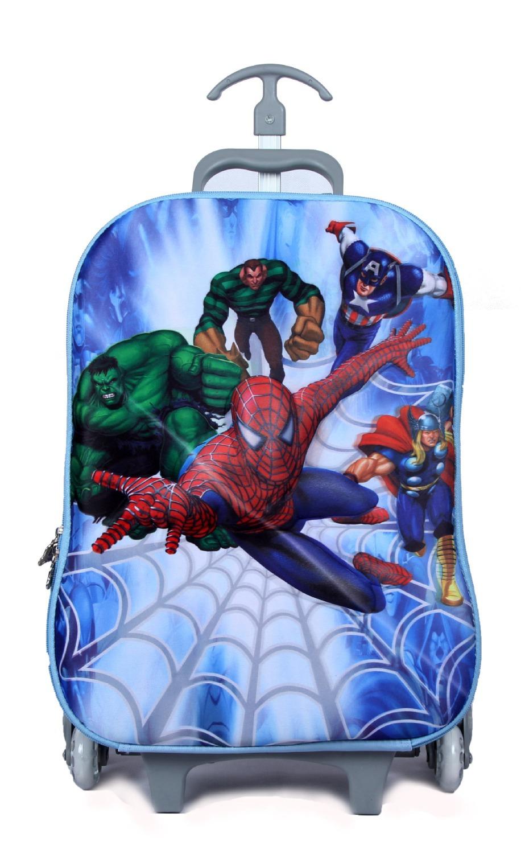16-inch EVA Children School Wheeled Bags 3D Car Racing Design Trolley Suitcase Kids Bag 2015