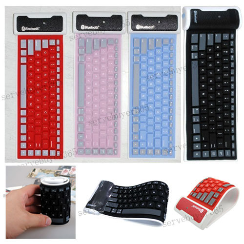 Bluetooth Wireless Flexible Roll UP Keyboard for iPhone 5/4/4S Ipad Android PC(China (Mainland))