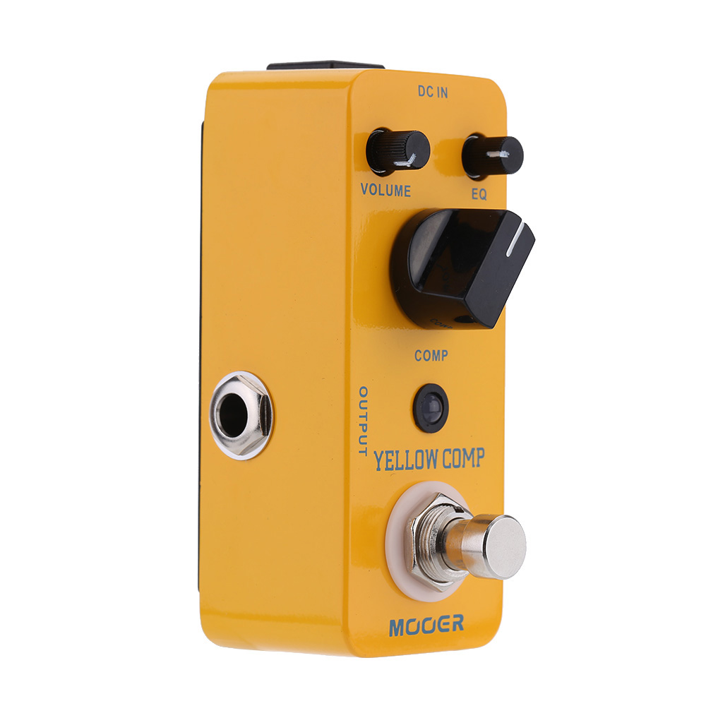 Mooer Yellow Comp Micro Mini Optical Compressor Effect Pedal for Electric Guitar True Bypass(China (Mainland))