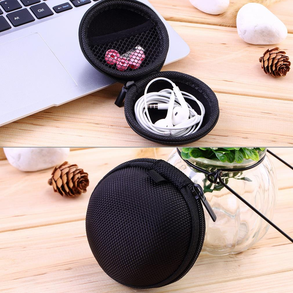 New Storage Bag For Earphone Headphone Earbuds Key Coin Hard Holder Box Carrying Hard Hold Case(China (Mainland))