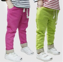 2015 hot summer children trousers boys&girls pants kids harem pants Cotton Linen elastic waist(China (Mainland))