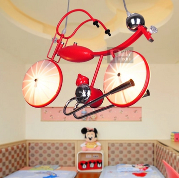 Creative fashion bicycle droplight Contracted children cartoon children room bedroom lamp light lamps and lanterns<br><br>Aliexpress