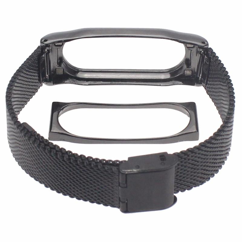 image for Replace To Xiaomi Mi Band Smart Wristband Metal Strap For Xiaomi Mi Ba