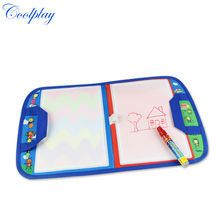25PCS CP1349nc 46X29.5cm baby toy Magic Water Doodle Mat with1 Magic Pen/ water doodle bag/drawing board/drawing rug(China (Mainland))
