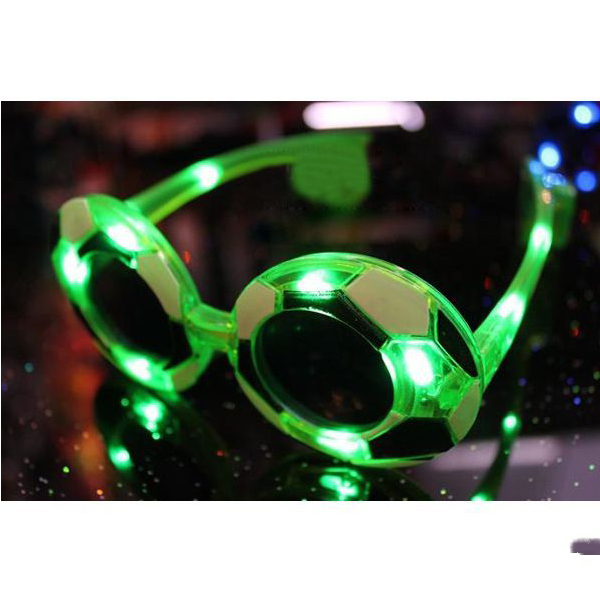 BestChoise World Cup Football Flashing Glasses Novelty Party Props Supplies(China (Mainland))