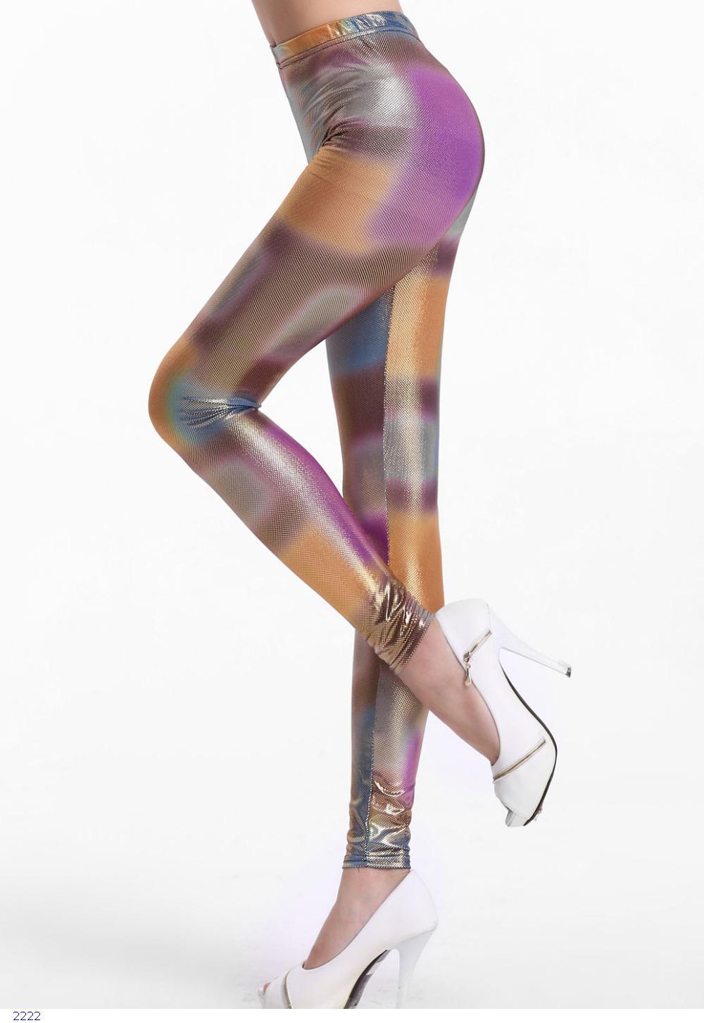 2014 women pants ,Shiny Neon Irregular Tie Dye Leggings Fitness LC79347 legging adventure time Drop Shipping - OY fashion Co., Ltd store