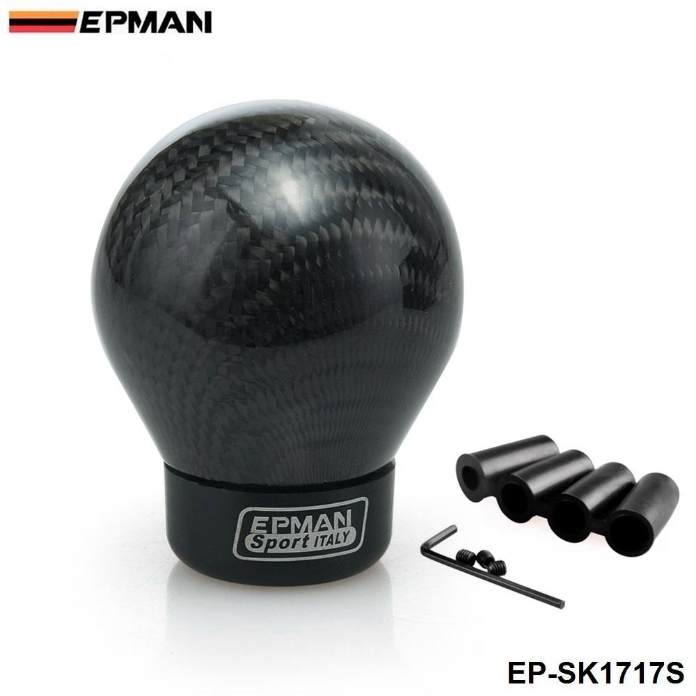 EPMAN -Real Carbon Fiber Gear Shift Knob Aluminum Shift Knob for Honda and for Acura EP-SK1717S