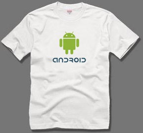 personalized for google mobile phone android t-shirt short-sleeve T shirt(China (Mainland))