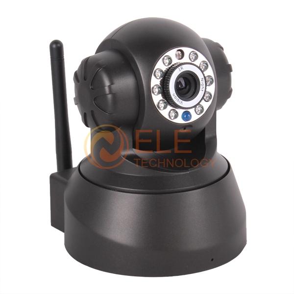 Hot Selling 2 Way Audio Wireless Network Internet Wifi RJ45 Night Vision IP Camera Indoor Home Surveillance CCTV dome Camera(China (Mainland))