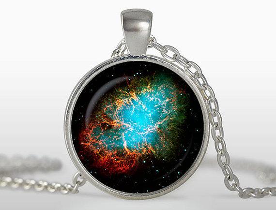 2017 new hot Wholesale jewelry accessories Crab Nebula Pendant Galaxy Necklace Universe Jewelry glass dome art necklace 2015(China (Mainland))