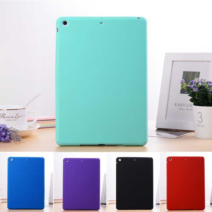 Hot Sale Ultrathin Clever TPU Silicon Protective Back Cover for Apple iPad Air iPad5 Soft Jelly Color Back Case for iPad Air2(China (Mainland))
