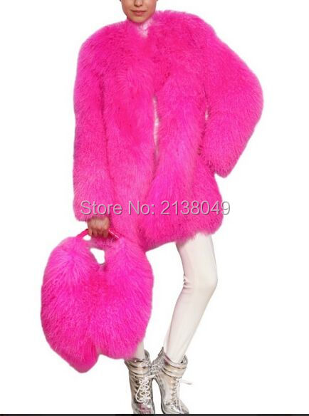 FC050 Китай Меховая Фабрика Монгольской Мех Ягненка Пальто/Натуральный Мех Пальто монгольский меховые пальто женщин
