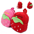Strawberry Pattern Kids Candy Toys Bags Children s Backpacks Lovely Plush Cartoon Children School Bags Wholesale