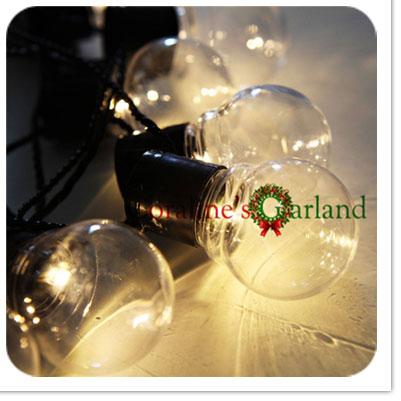 Nolvety 20 LED Clear Globe Connectable Plug  as Festoon Party String Christmas Lights  Holiday Garland Lights EU AU US UK PLUG