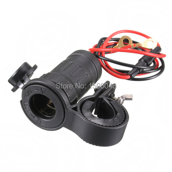 Excellent Quality Brand New Wholesale Price 12/24V Marine Motorcycle Car Cigarette Lighter Power Socket Port Max240W 20A(China (Mainland))