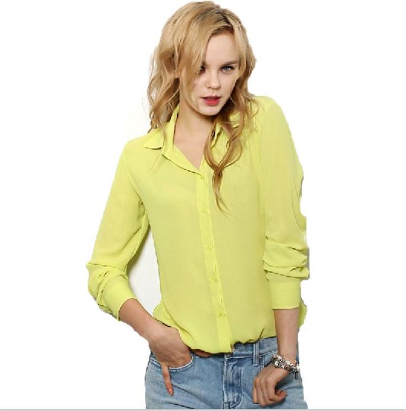 Ladies yellow blouses peach chevron blouse for Womens yellow long sleeve shirt