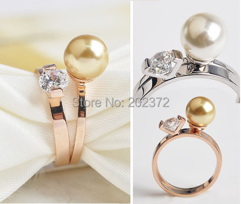 Can separated combination women ring pear Simulated diamond,18k gold plated brand rings jewelry - Motocycle Accessories store