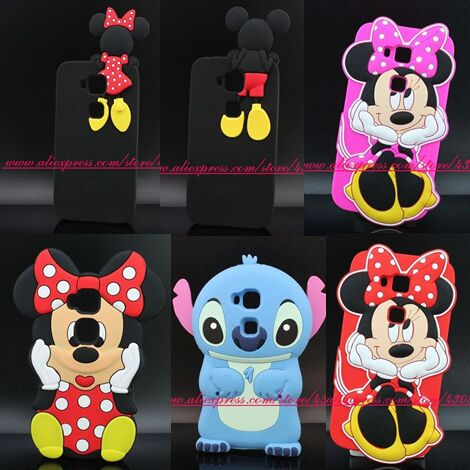 New 3D Silicon Minnie Mickey Stitch Dog Soft Cell Phone Back Skin Cover Case for Huawei G7 Plus 5.5 Inch G8 Maimang 4(China (Mainland))