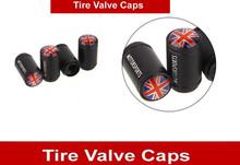 4PCS UK British National Flag Black Aluminum Alloy Car Tyre Tire Valve Stems Caps United Kingdom England Flags Car Styling(China (Mainland))