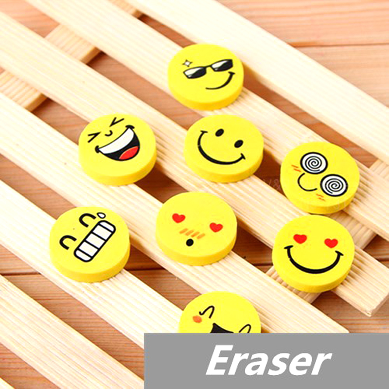 10 pcs/Lot Smile face Erasers rubber for pencil kid funny cute stationery Novelty eraser Office accessories school supplies<br><br>Aliexpress