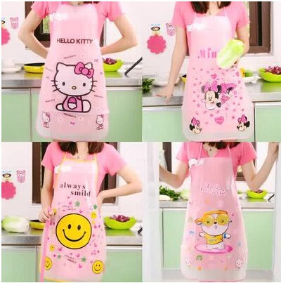 Han edition apron cute kitchen apron cartoon waterproof aprons for woman summer style cooking tools free shipping(China (Mainland))