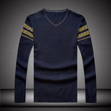 2016 new arrival Spring sweater knitted o-neck men's  long-sleeve fashion casual super large plus size L XL 2XL 3XL 4XL5XL6XL7XL(China (Mainland))